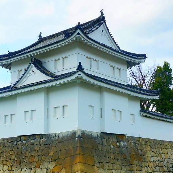 京都第十站二条城二条城是京都的重要文化遗产之一,由江户幕府的第一代将军德川家康所建,个人感觉像是一座日本历史的博物馆,干货满满,但若对日本文化并不了解,只能看个大概吧。 整个景区还是很大的,所有的介绍只有日文和英文,但门口有中文讲解器可以租赁。二条城内最重要的建筑便是二之丸御殿,里面有各种豪华精美的隔扇画和雕刻,入内参观需换上殿内提供的拖鞋,禁止摄影,所以想知道殿内构造的朋友们只能亲自去领略了。 除了二之丸御殿,还有传统的日式庭院可以参观,松树修剪得整整齐齐,挺有特色的。 还可爬山里面的天守城旧址,俯瞰