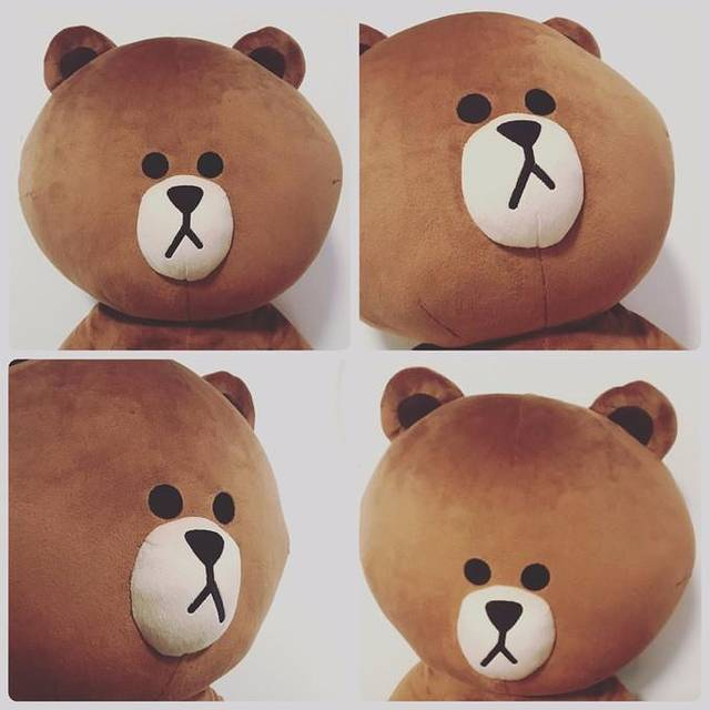 沿路走着,瞄到门口的巨大布朗熊时,就是到达了最吸引人的line friend