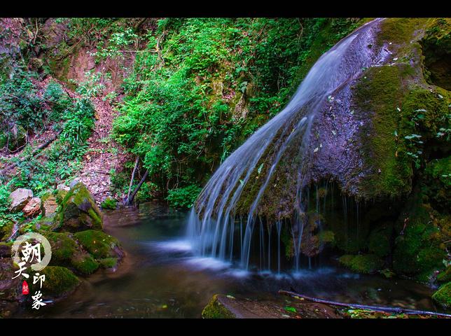 89 首頁 廣元水磨溝  馬尾瀑,也是這個景區最重要的景點,整個瀑布就
