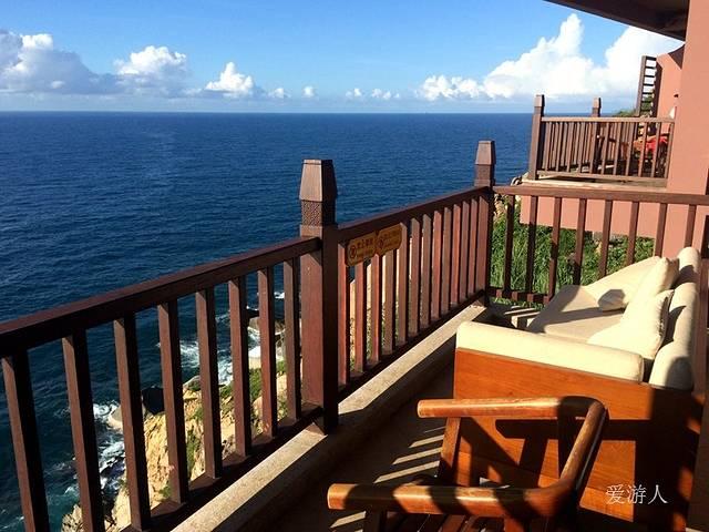 海釣會所山海閣陽臺上的風景