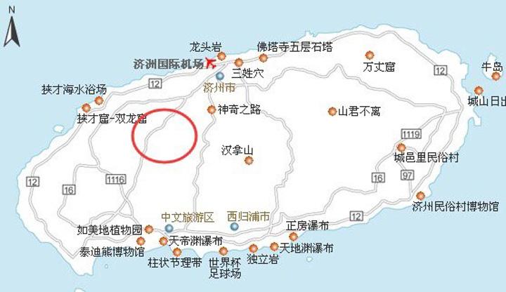 济州岛景点地图