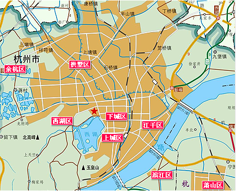 杭州地图图片