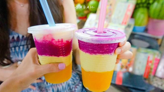 三色果汁_三色果汁!牛油果,芒果,火龙果,三个颜色,层次分明!