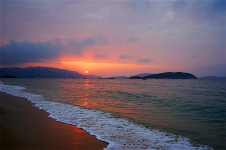 早晨海边美景图片