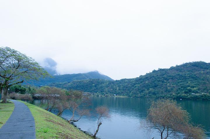 下一站就是晃晃悠悠到鲤鱼潭,鲤鱼潭停满了船,因为是下雨天景色自然不