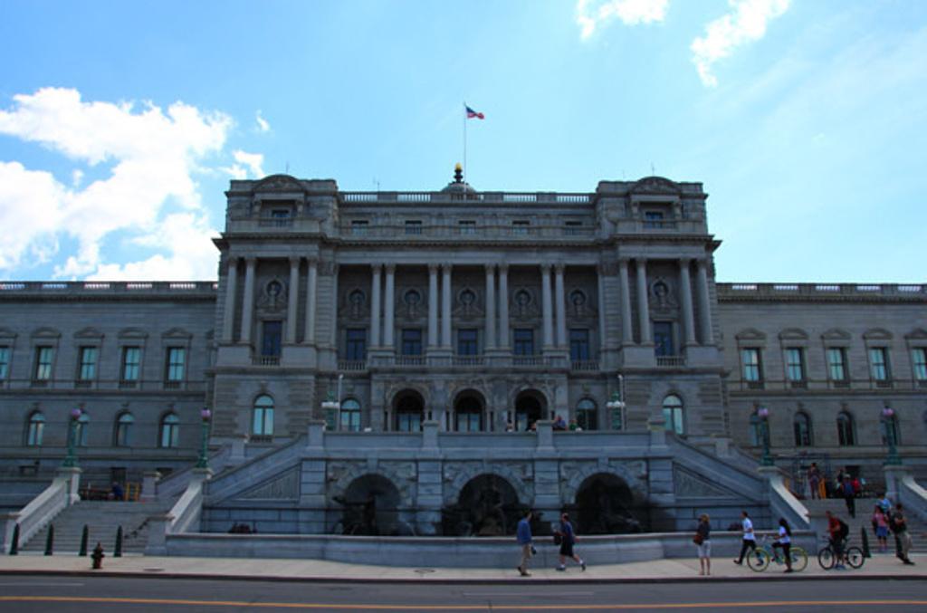 """""""从法院出来,右手边就是国会图书馆啦_美国国会图书馆""""的评论图片图片"""