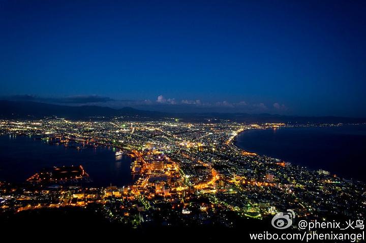 去函馆旅游,错过夜景你绝对后悔.