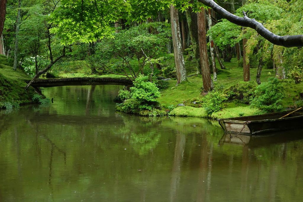 【庭院中的小桥与舟】