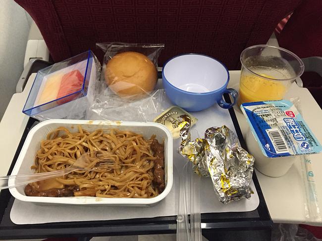 香港航空的飞机餐还真难吃