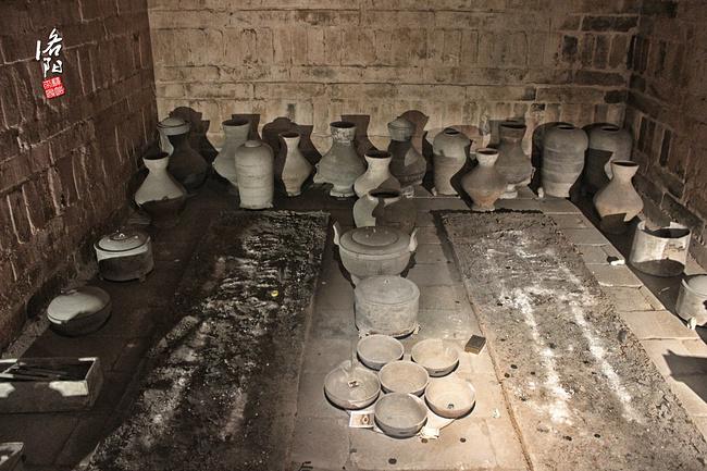 构成洛阳古墓博物馆的鲜明特点