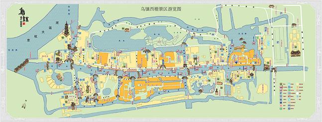 乌镇地图图片