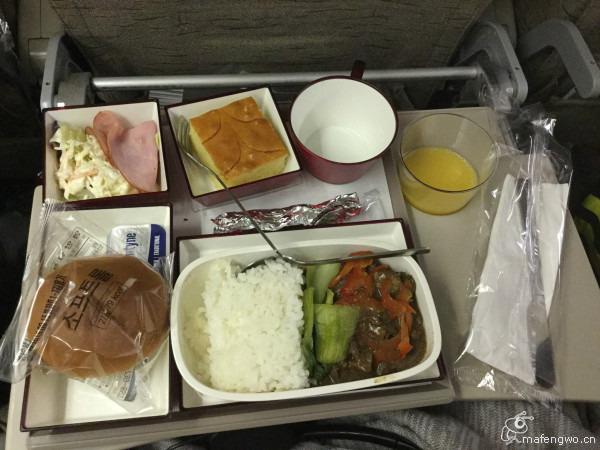 韩亚航空飞机餐果然很赞