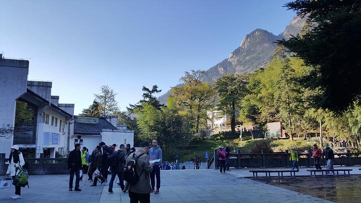 """这个地方还是有一家看上去不错的咖啡厅_黄山风景区""""的评论图片"""