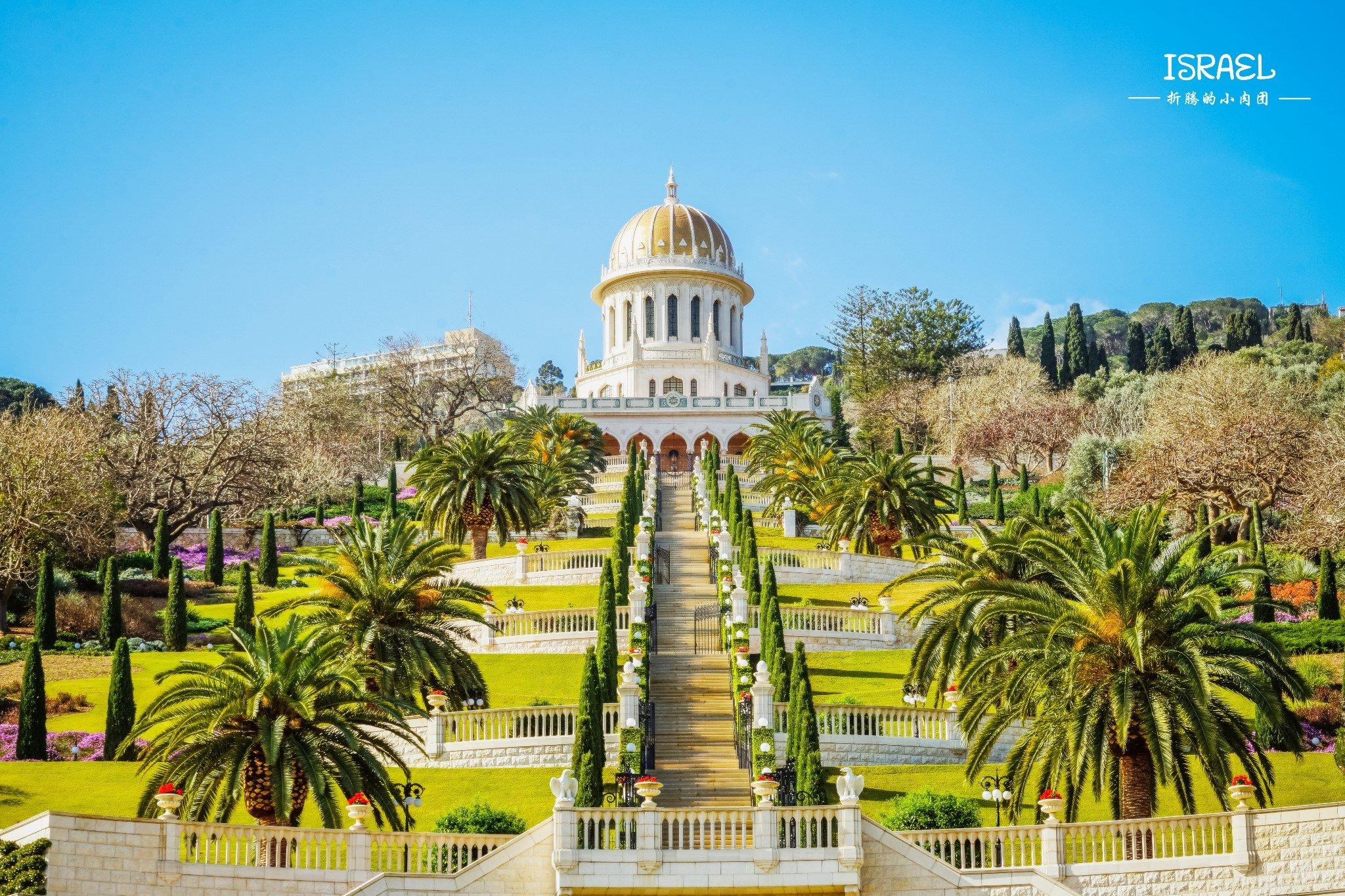 而在海法,最着名的当属巴哈伊空中花园了,无论是在底部仰望,还是在图片