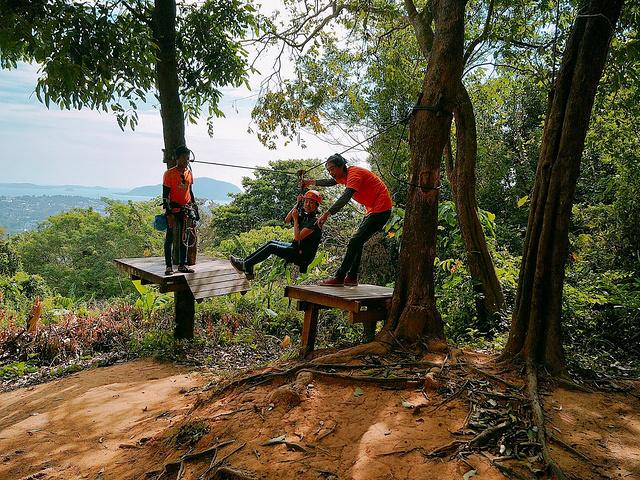 2018景点的树屋很有攻略感的摇晃,但很a景点。东山v景点丛林年代必去图片