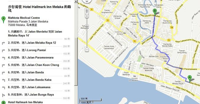 马六甲地图图片
