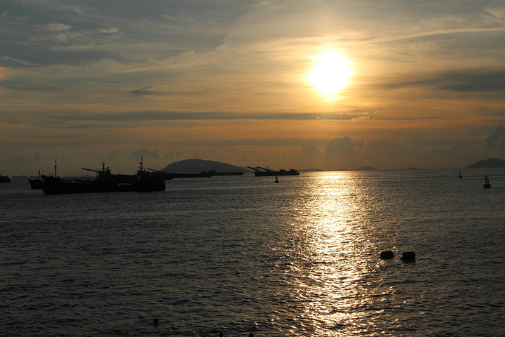 标志性的说明.外伶仃岛在珠海香洲东南部.