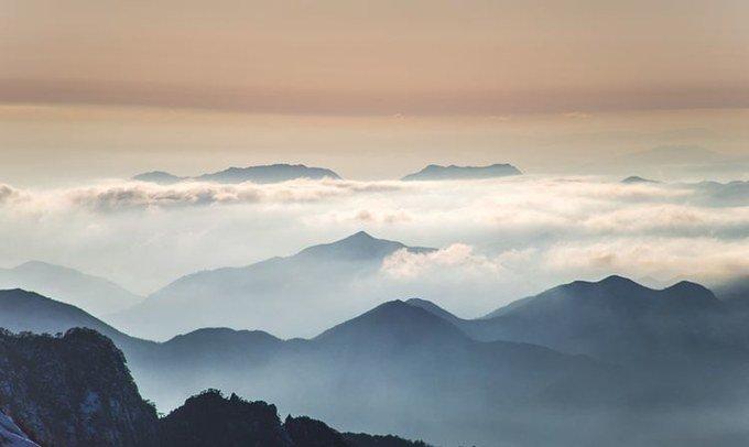 白色黄山,美景惊艳
