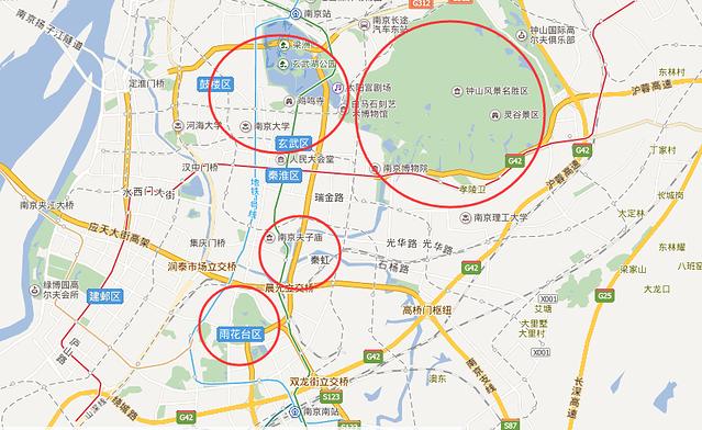 手绘明孝陵景区地图