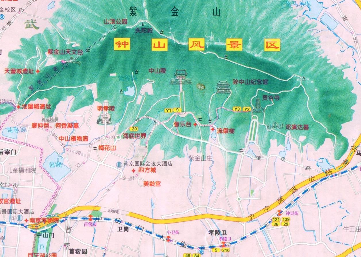 明孝陵手绘地图