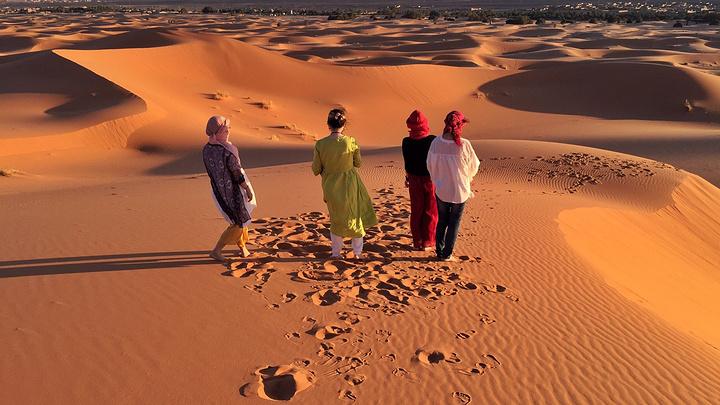不远万里带来的《撒哈拉故事》此刻成为摆拍的主角.图片