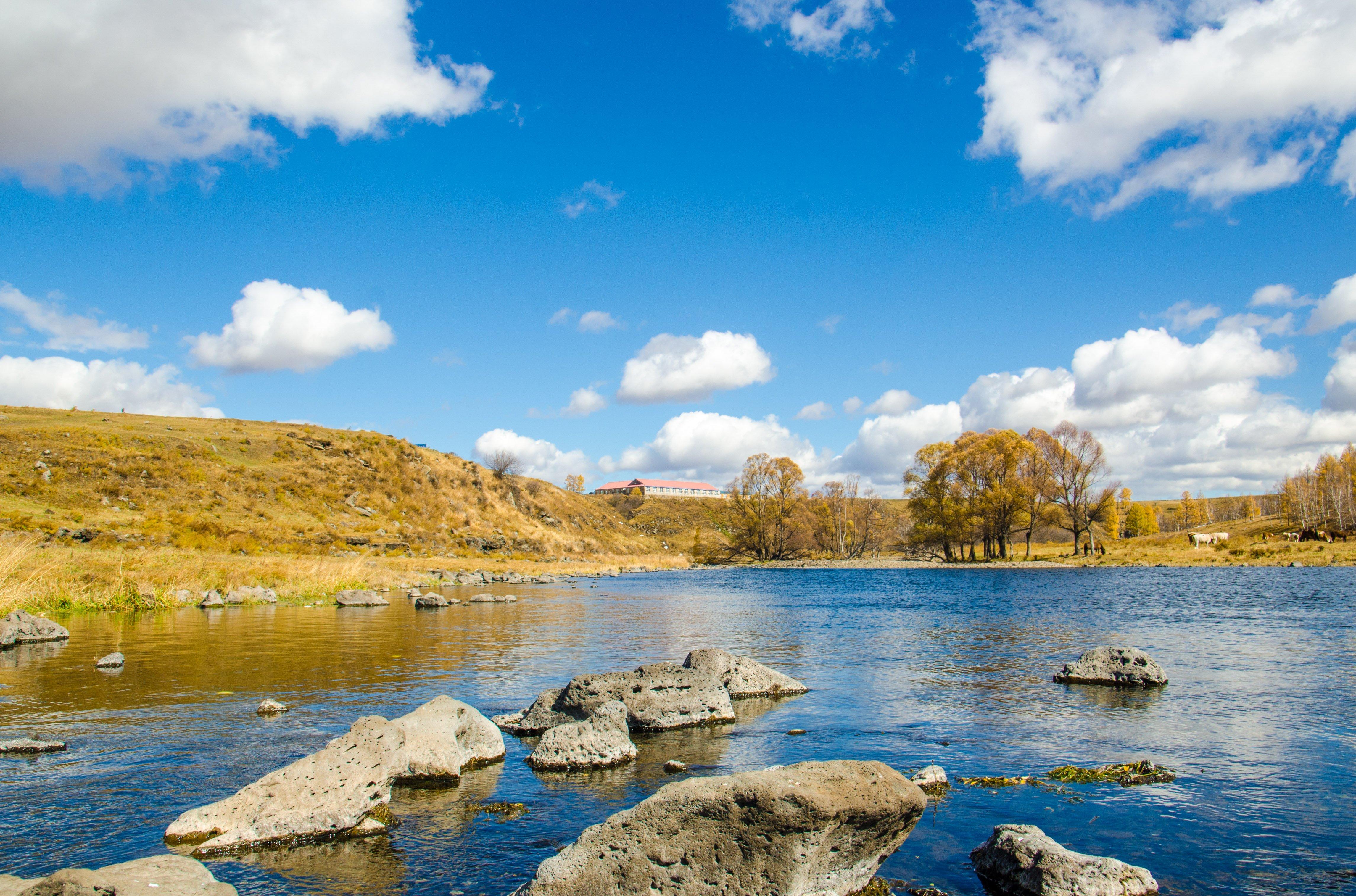 河面冰冻图片风景