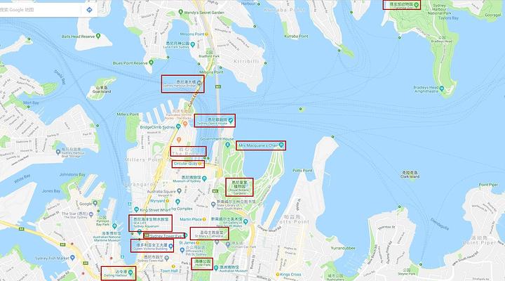环形码头周边景点地图:.环形码头地图