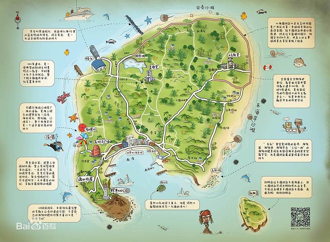 北海旅游景点地图查询