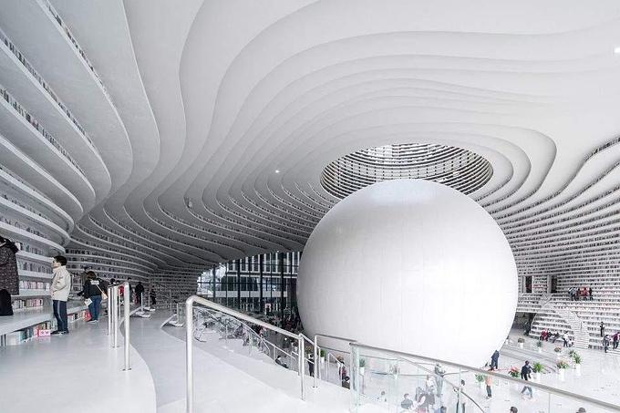 天津滨海图书馆图片