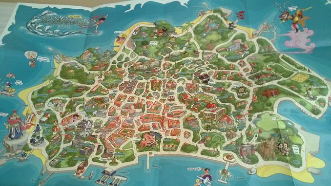鼓浪屿的手绘地图