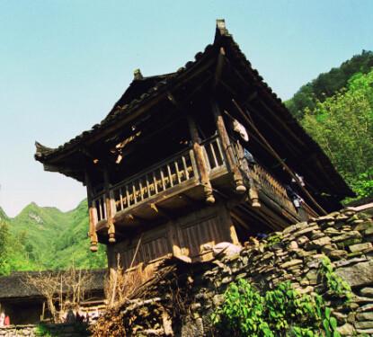 湘西土房子手绘