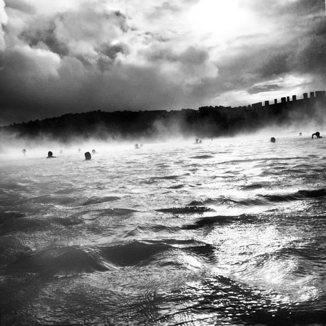 北欧风景黑白画素材
