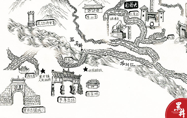 地图 简笔画 手绘 线稿 649_410