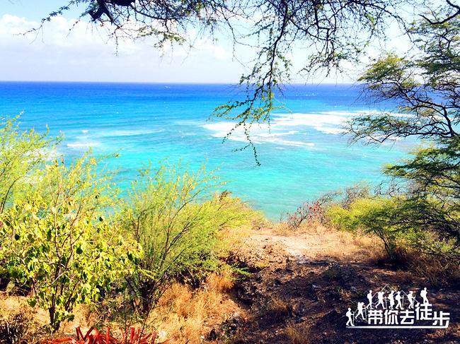 夏威夷欧胡岛傀儡悬崖海滩公园