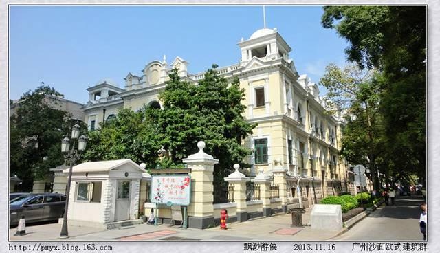 这里出门就可以游览沙面上世纪的欧式建筑群,附近有上下九步行街,中国