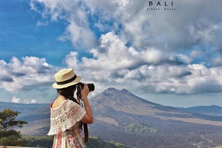 """""""也是第一次泡火山温泉, 非常兴奋_巴厘岛火山海滩别墅酒店(volcano"""