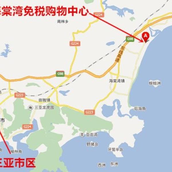 tips6:蜈支洲岛的地图如下,像一个心形,其中绿色虚线是可以步行随便