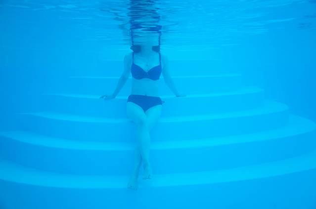 蓝色水浪背景素材