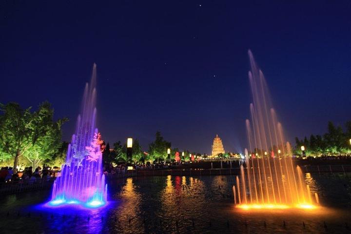 """""""_大雁塔北广场音乐喷泉""""的评论图片图片"""