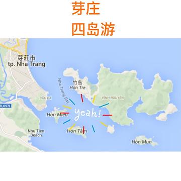 越南芽庄市地图