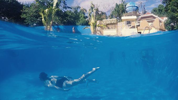 泳池航拍高清素材