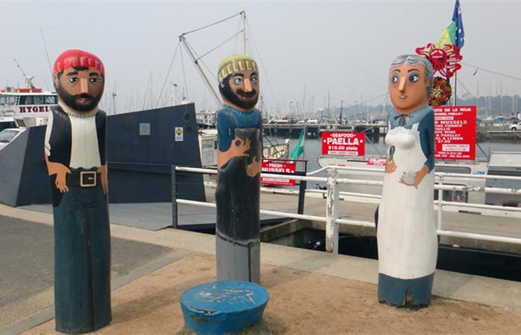 沿海的木头人观景很出名