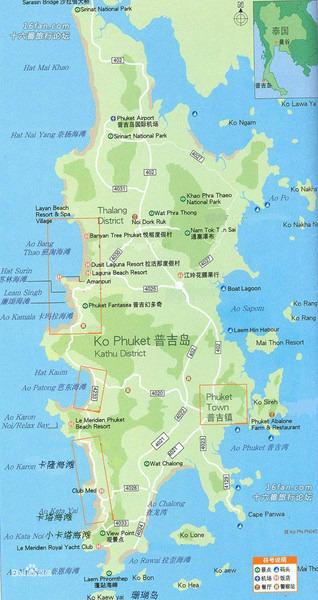 卡塔海滩手绘地图