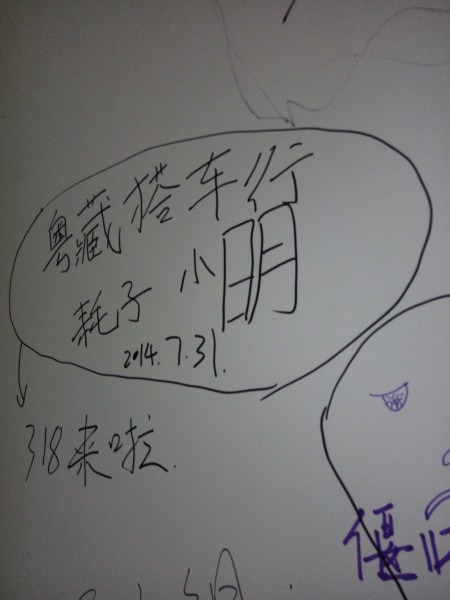 墙上手绘画图片简单小