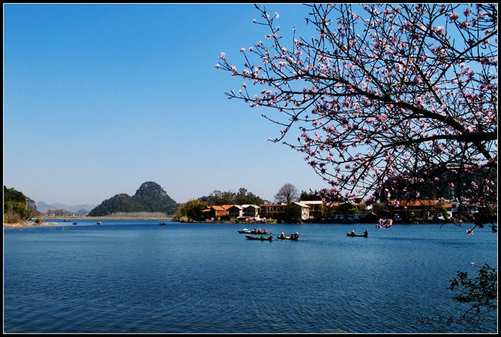 沿湖沿山的小道,边走边看风景.