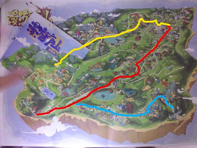《漫游庐山》手绘地图图片