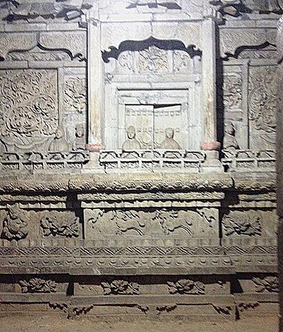 青砖拱型墓结构图