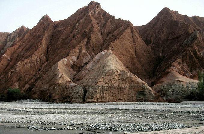 喀什旅游攻略 大美新疆(4)风情喀什  阿克陶县境内的火焰山就是奇景之