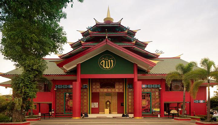 """""""这是印尼第一座用""""郑和""""的名字命名的清真..._郑和清真寺""""的评论图片"""