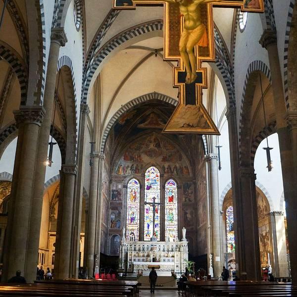 新圣母玛利亚大教堂,就在我们住的后方